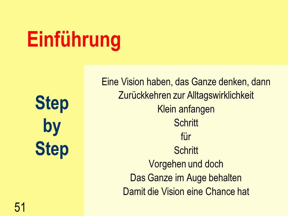 Einführung Step by 51 Eine Vision haben, das Ganze denken, dann