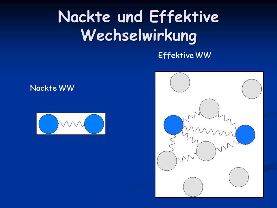 Nackte und Effektive Wechselwirkung