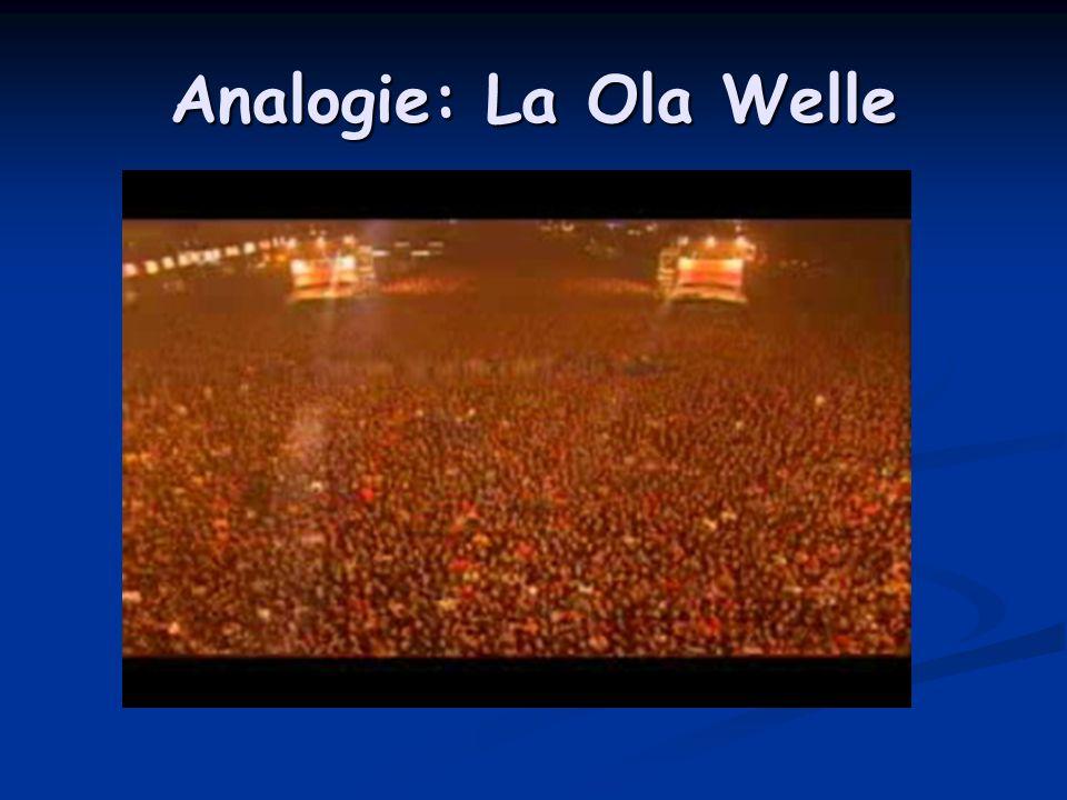 Analogie: La Ola Welle