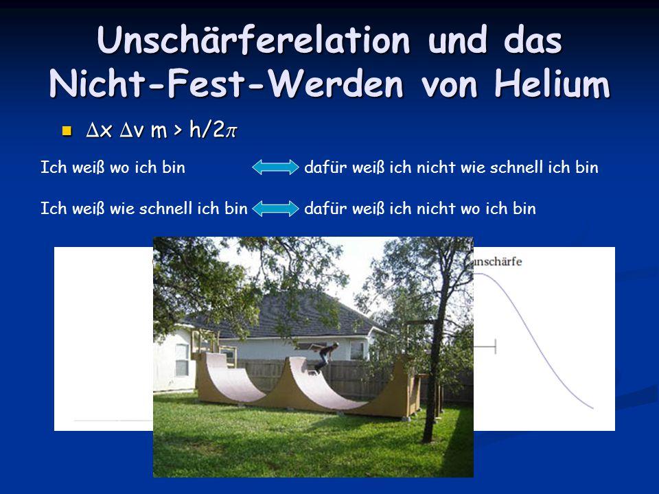 Unschärferelation und das Nicht-Fest-Werden von Helium