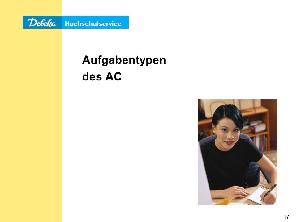 Aufgabentypen des AC