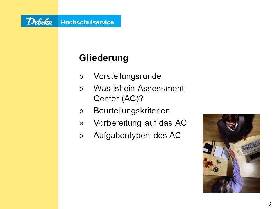 Gliederung Vorstellungsrunde Was ist ein Assessment Center (AC)