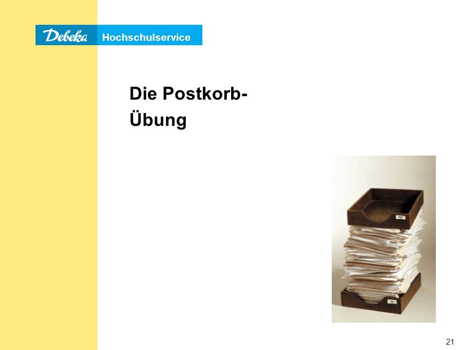 Die Postkorb- Übung