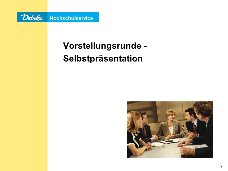 Vorstellungsrunde - Selbstpräsentation