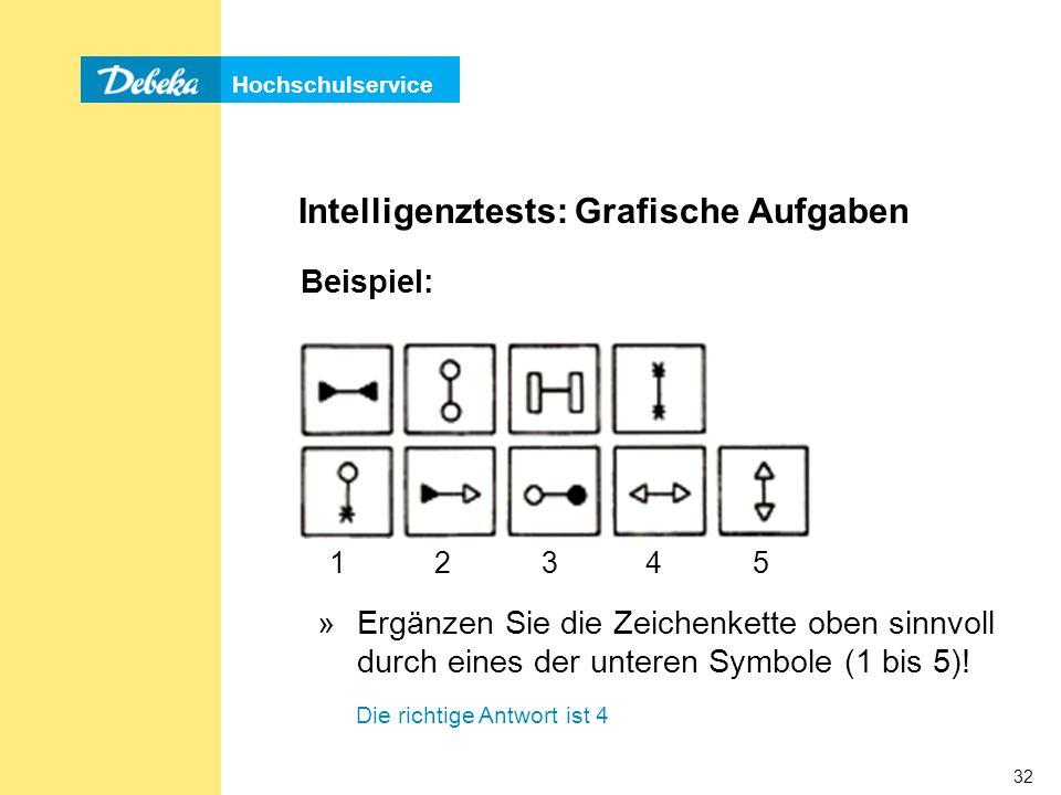Intelligenztests: Grafische Aufgaben