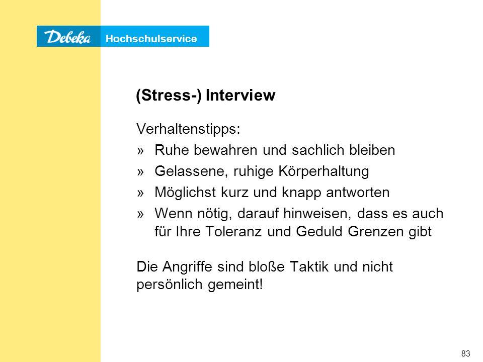 (Stress-) Interview Verhaltenstipps: