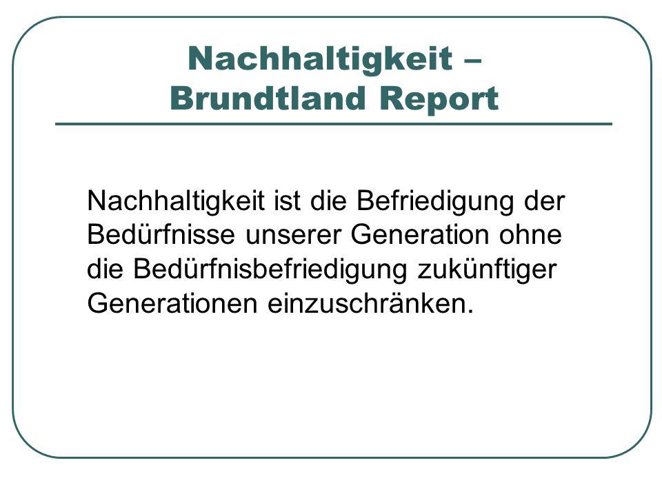 Nachhaltigkeit – Brundtland Report