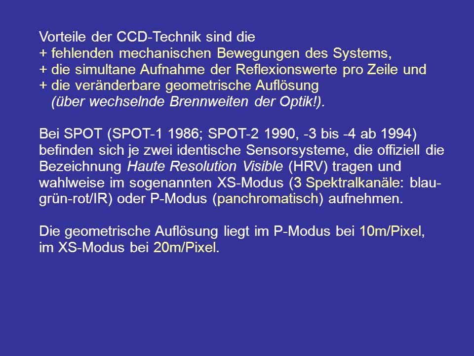 Vorteile der CCD-Technik sind die