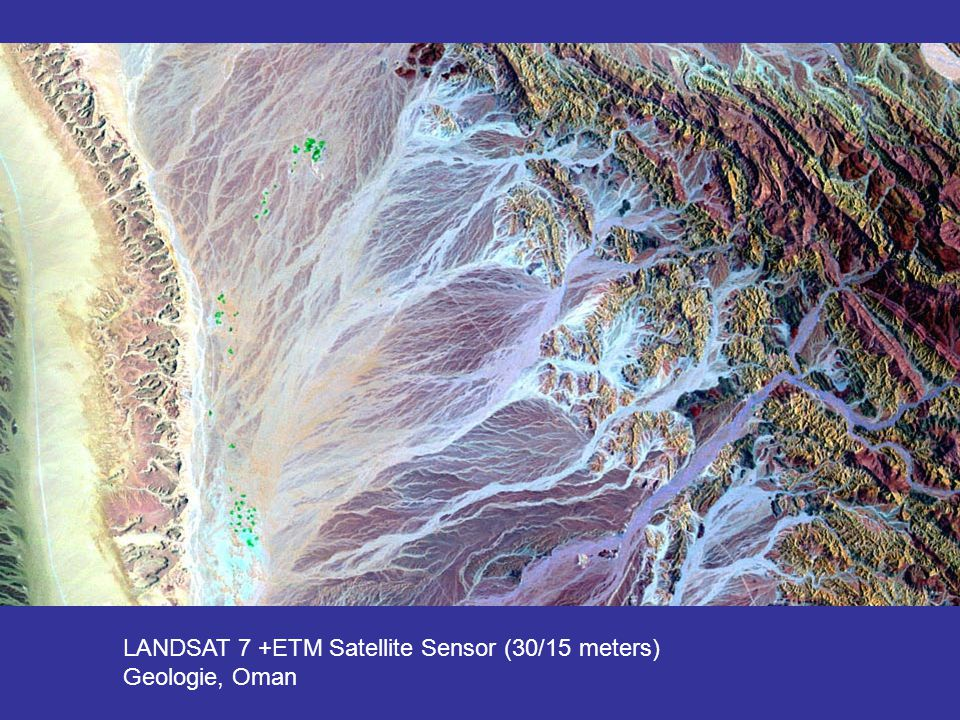 LANDSAT 7 +ETM Satellite Sensor (30/15 meters)