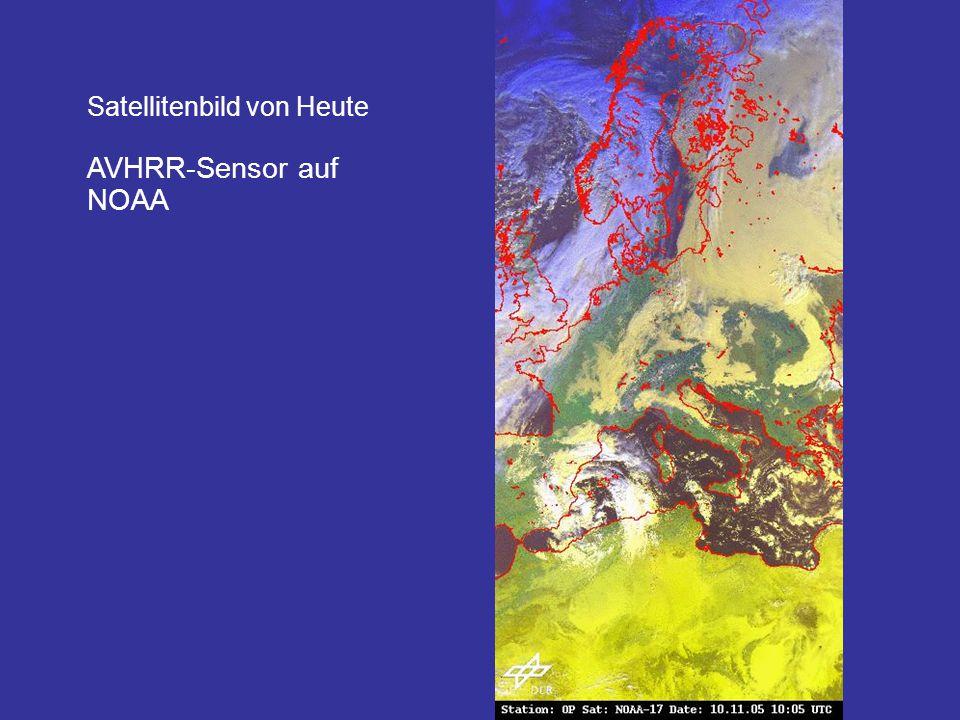 Satellitenbild von Heute