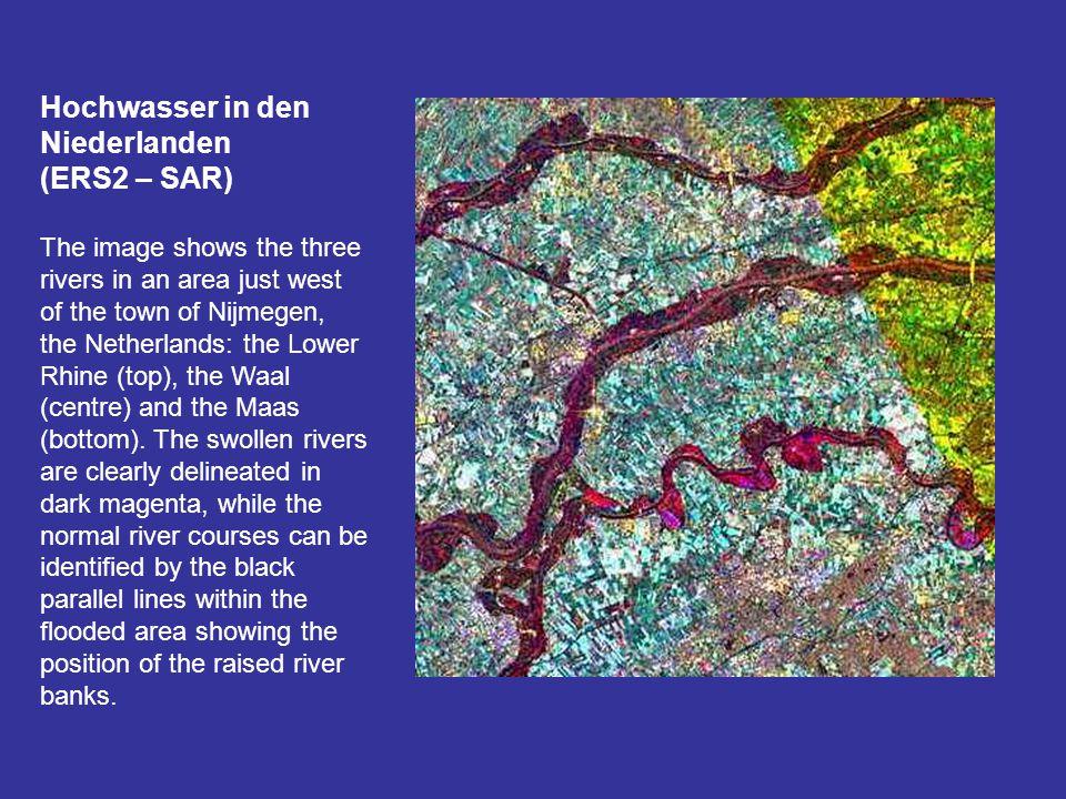 Hochwasser in den Niederlanden (ERS2 – SAR)