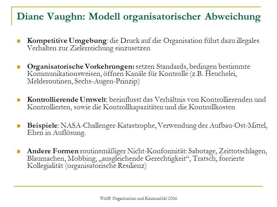 Diane Vaughn: Modell organisatorischer Abweichung