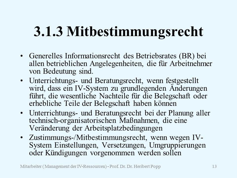 3.1.3 Mitbestimmungsrecht
