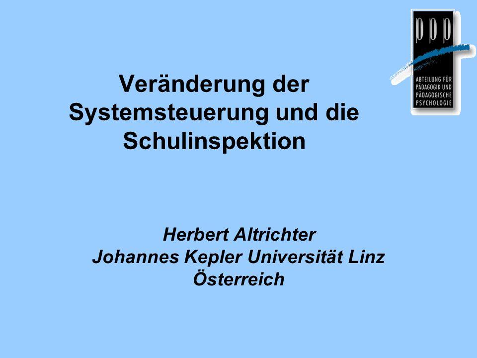 Veränderung der Systemsteuerung und die Schulinspektion