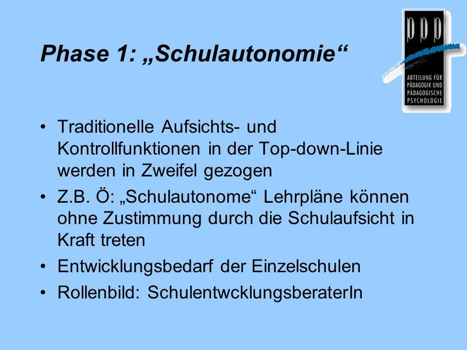 "Phase 1: ""Schulautonomie"