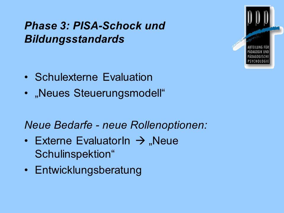 Phase 3: PISA-Schock und Bildungsstandards