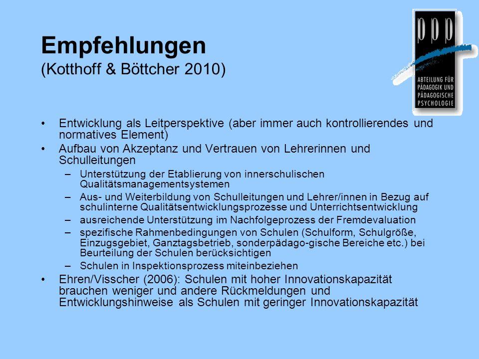 Empfehlungen (Kotthoff & Böttcher 2010)