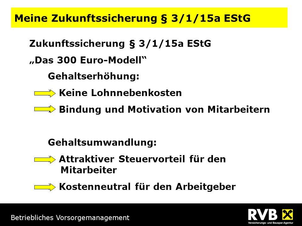 Meine Zukunftssicherung § 3/1/15a EStG