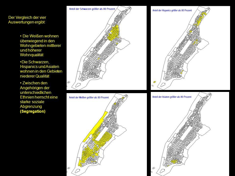 Manhatten u. Bronx - Sozialstruktur