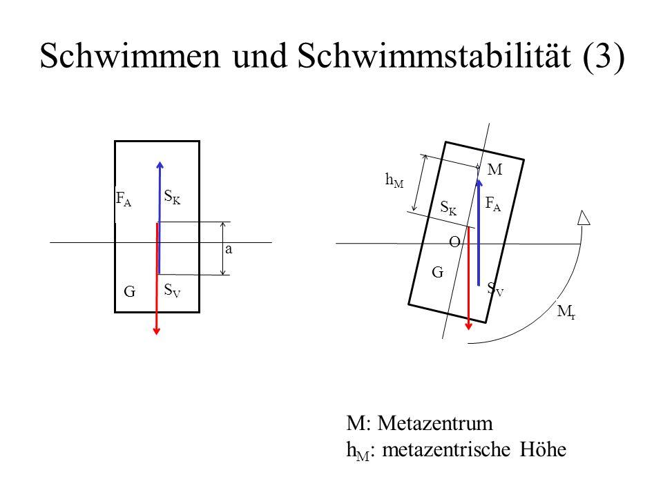 Schwimmen und Schwimmstabilität (3)