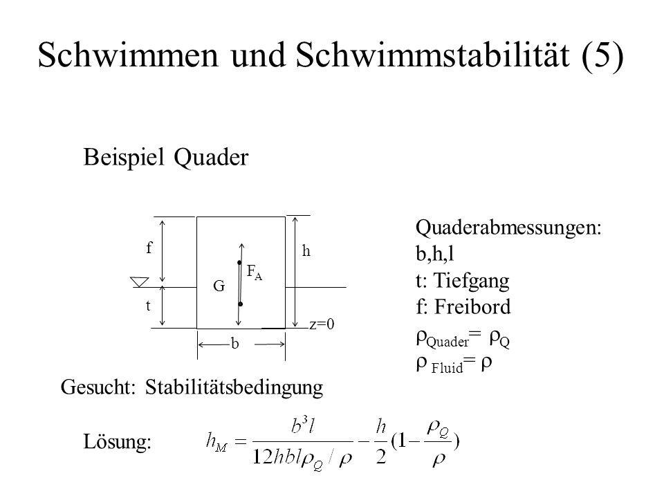 Schwimmen und Schwimmstabilität (5)
