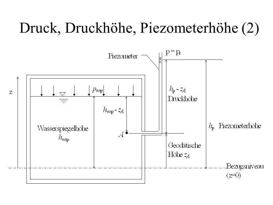 Druck, Druckhöhe, Piezometerhöhe (2)