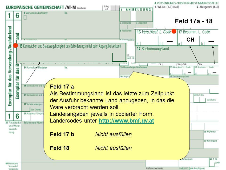 Feld 17a - 18  CH.  Feld 17 a.