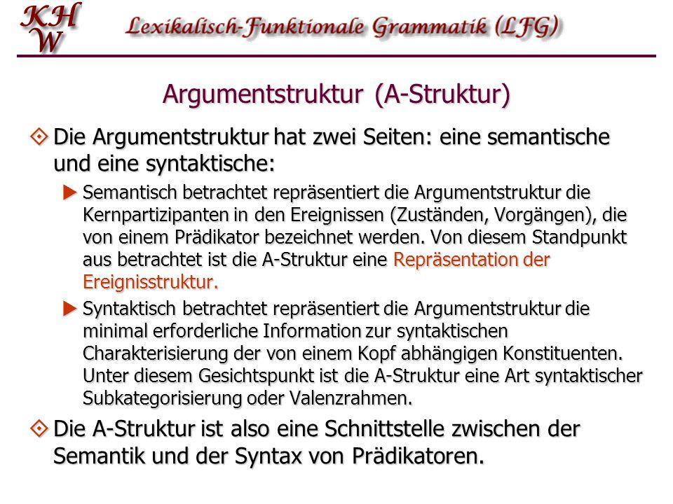 Argumentstruktur (A-Struktur)