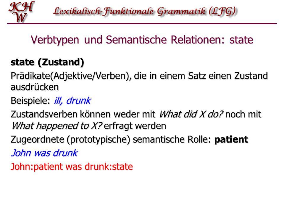 Verbtypen und Semantische Relationen: state