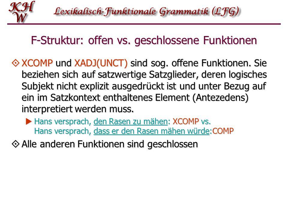 F-Struktur: offen vs. geschlossene Funktionen