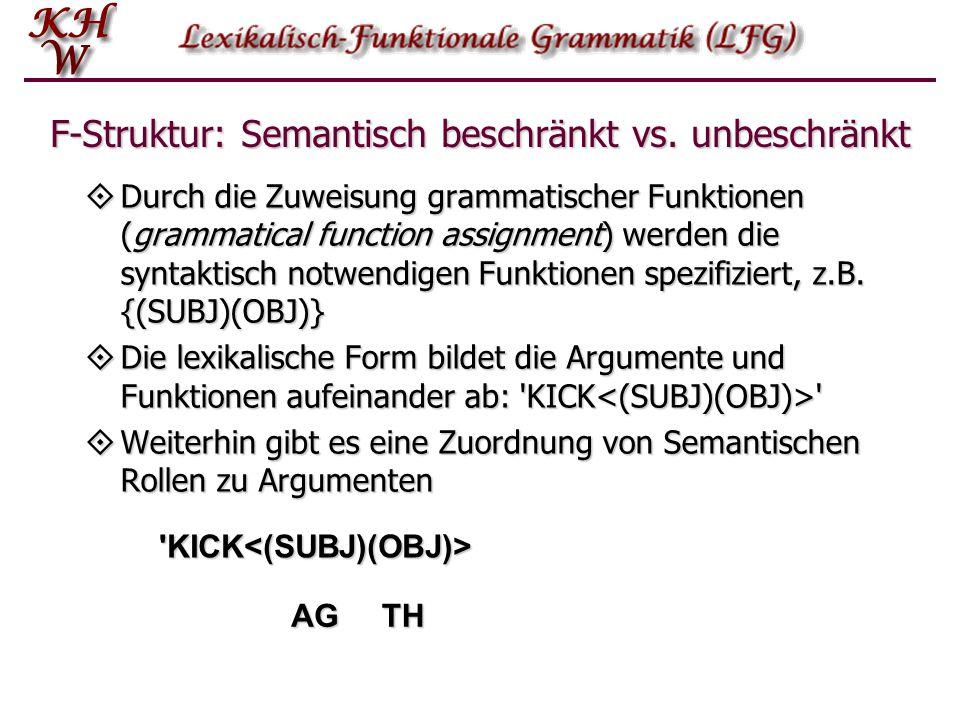 F-Struktur: Semantisch beschränkt vs. unbeschränkt
