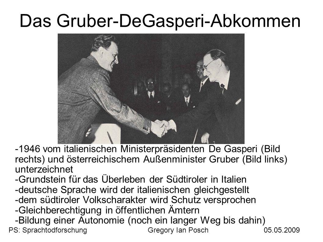 Das Gruber-DeGasperi-Abkommen
