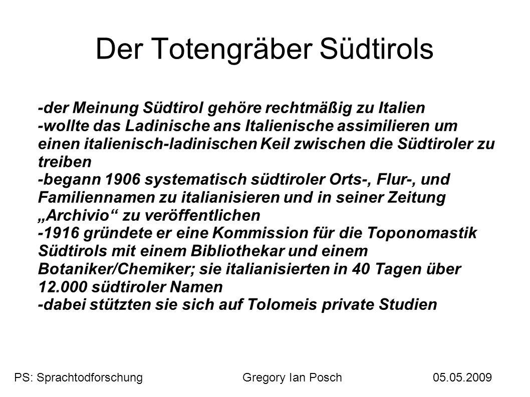 Der Totengräber Südtirols