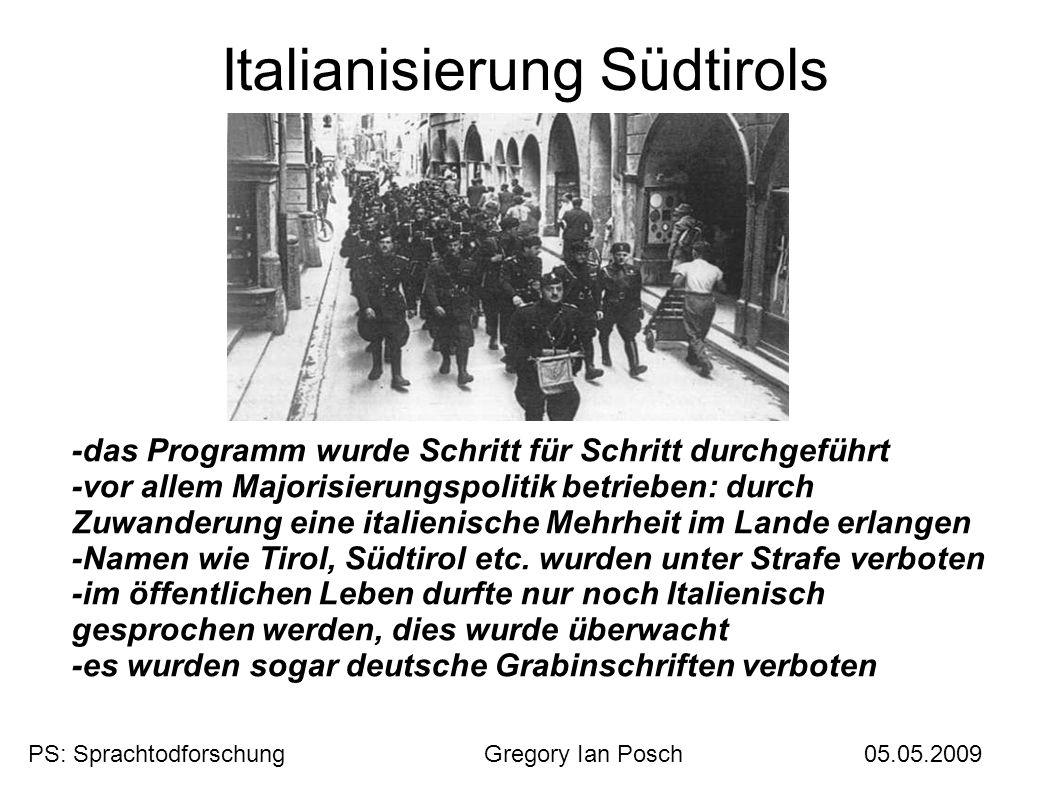 Italianisierung Südtirols