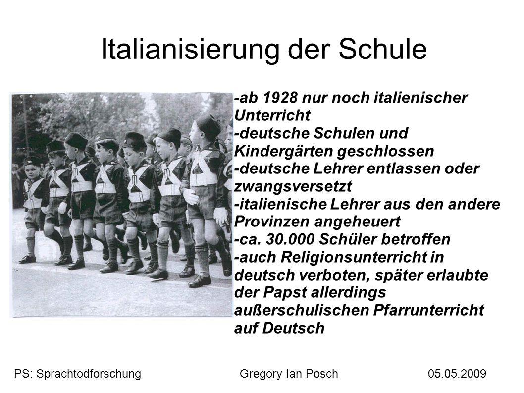 Italianisierung der Schule