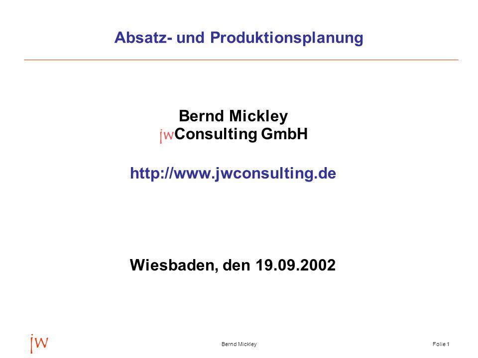 Absatz- und Produktionsplanung