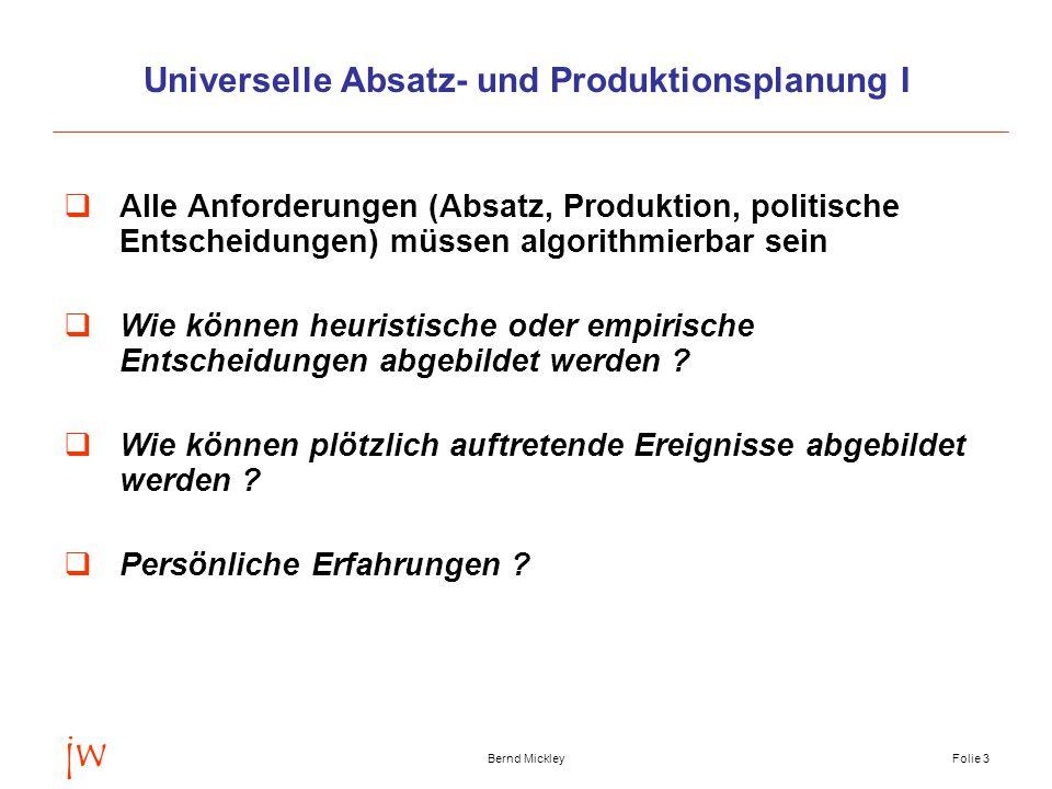 Universelle Absatz- und Produktionsplanung I