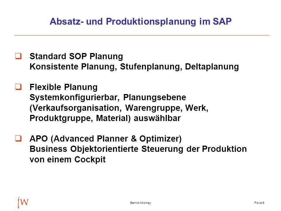 Absatz- und Produktionsplanung im SAP