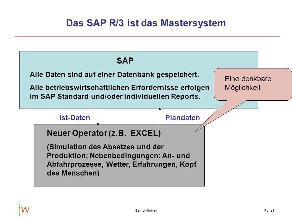 Das SAP R/3 ist das Mastersystem