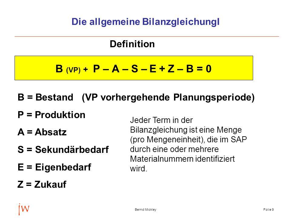 Die allgemeine Bilanzgleichung I