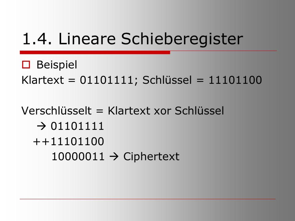 1.4. Lineare Schieberegister