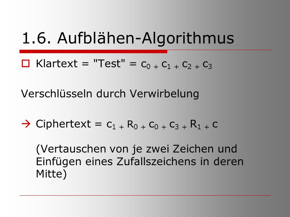 1.6. Aufblähen-Algorithmus
