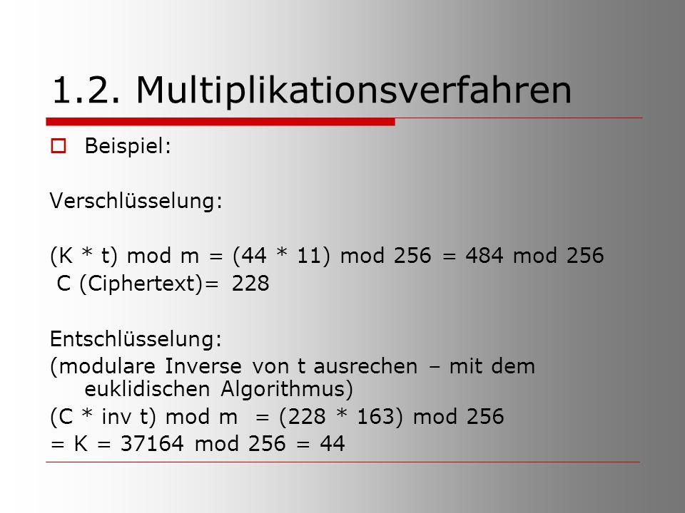1.2. Multiplikationsverfahren