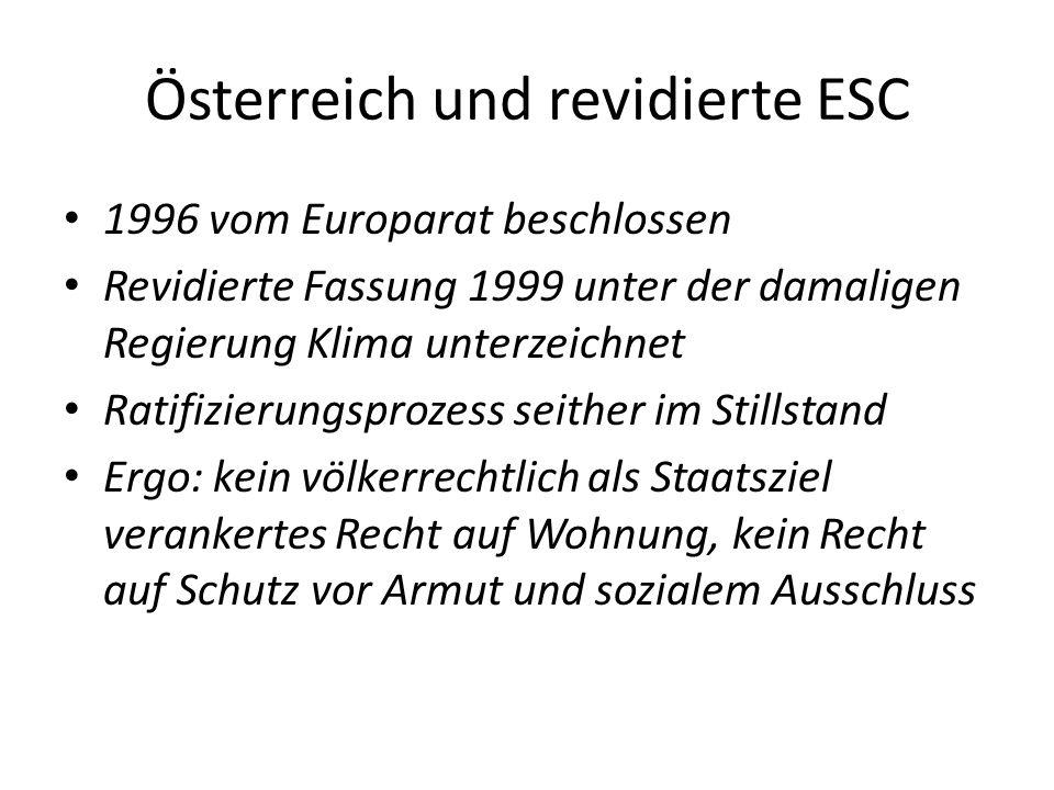 Österreich und revidierte ESC