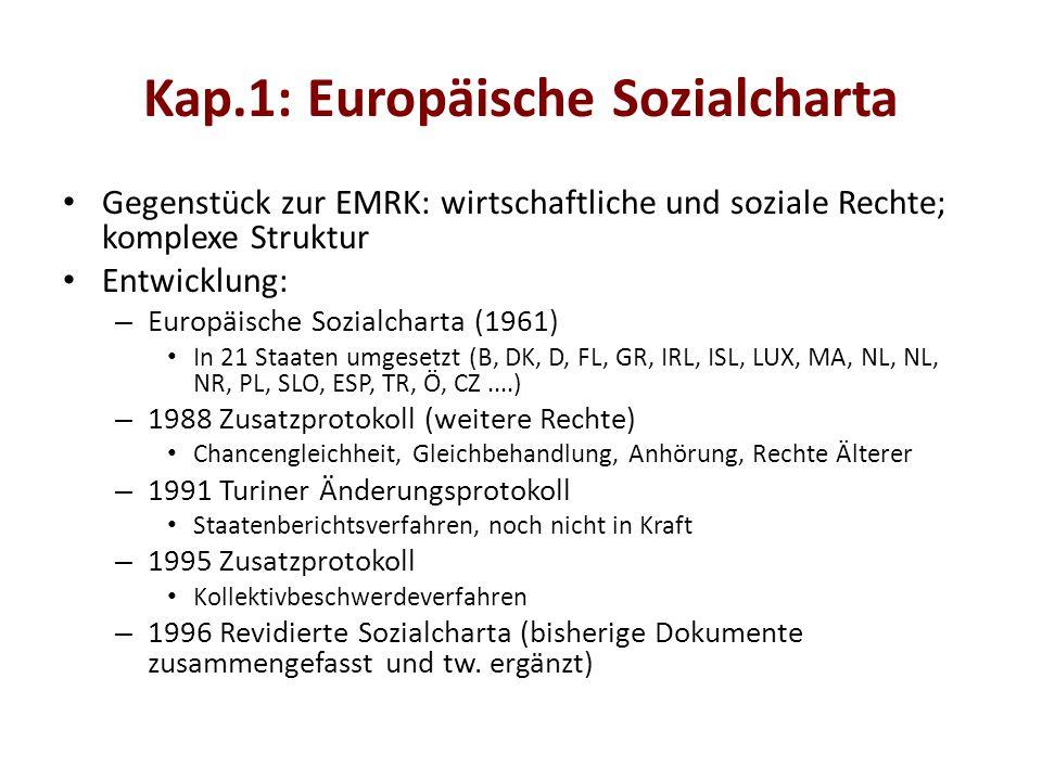 Kap.1: Europäische Sozialcharta