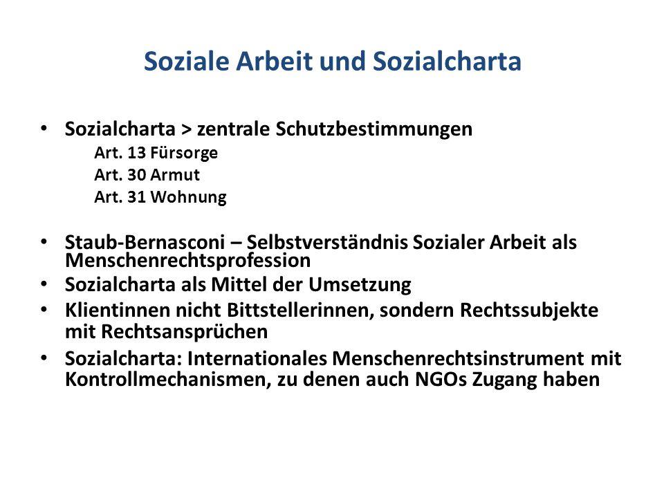 Soziale Arbeit und Sozialcharta
