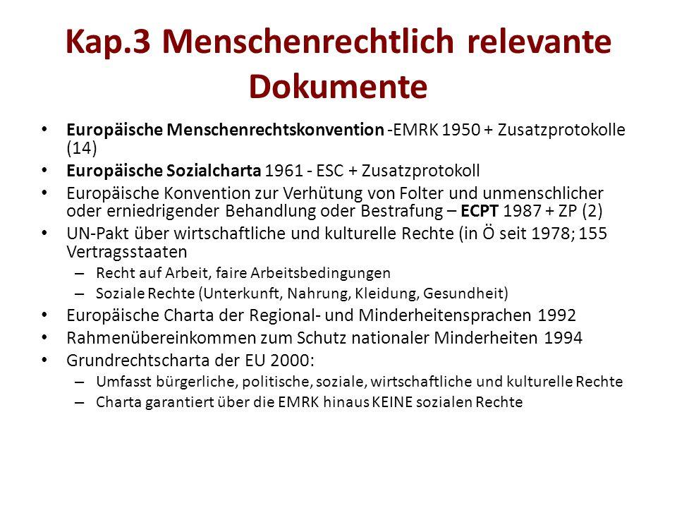Kap.3 Menschenrechtlich relevante Dokumente