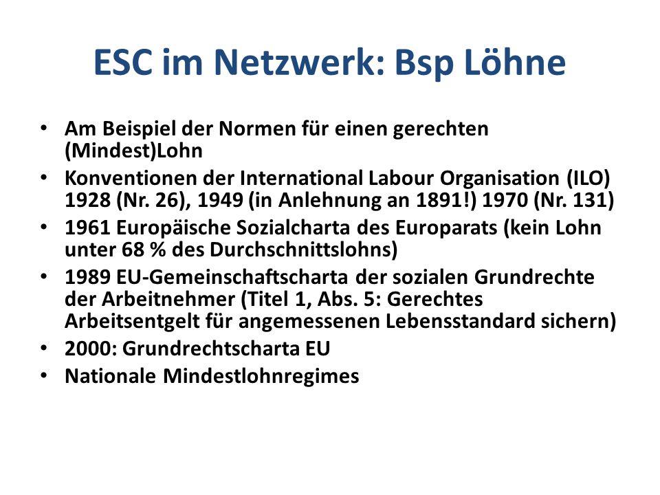 ESC im Netzwerk: Bsp Löhne