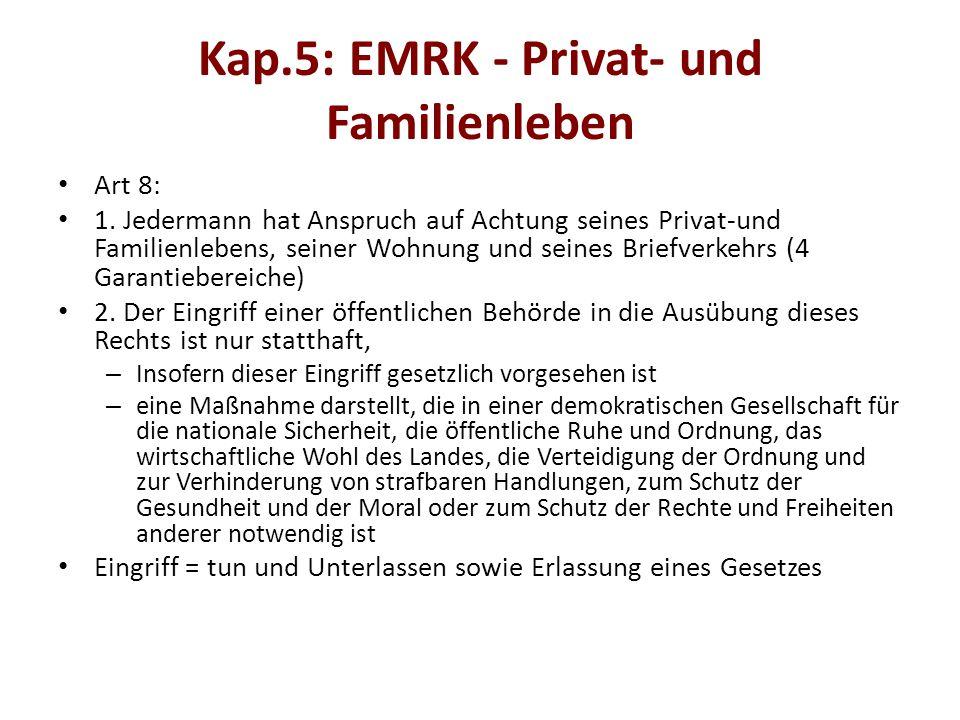 Kap.5: EMRK - Privat- und Familienleben