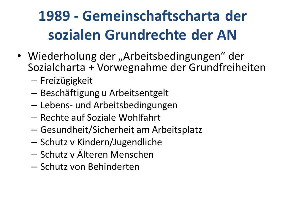 1989 - Gemeinschaftscharta der sozialen Grundrechte der AN